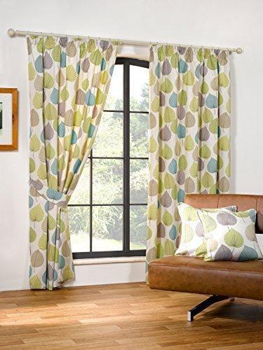 hoja-de-otono-verde-46x72-mezcla-de-algodon-forrado-cortinas-plisadas-doowelgni