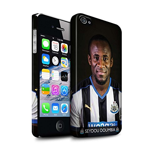 Officiel Newcastle United FC Coque / Clipser Matte Etui pour Apple iPhone 4/4S / Saivet Design / NUFC Joueur Football 15/16 Collection Doumbia