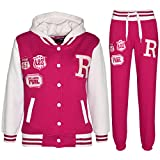 A2Z 4 Kids® Unisex Kinder Mädchen Jungen Mit Kapuze Baseball Trainingsanzug - B.B Tracksuit Pink 7-8