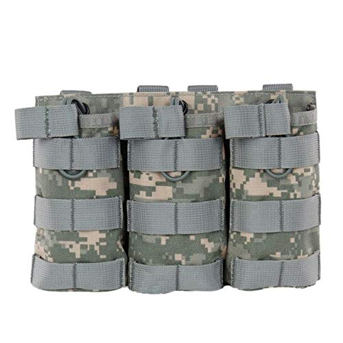 MOLLE Triple Open-Top Magazine Pouch Fast AK AR M4 FAMAS Mag Pouch ACU