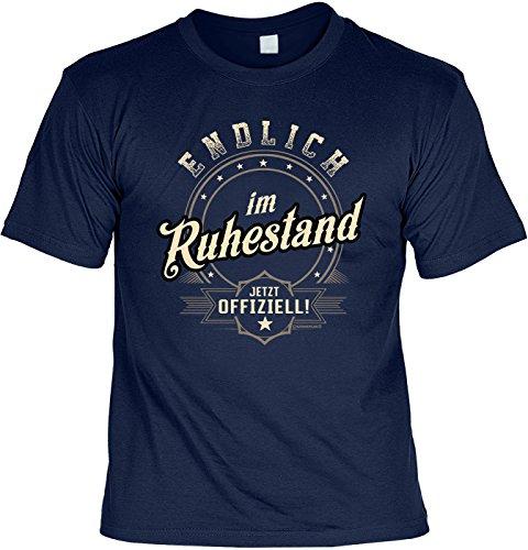 Rentner-Sprüche Tshirt lustiges Geschenk Ruhestand : Endlich im Ruhestand Jetzt Offiziell - Rentner-Shirt Motiv/Spruch Rente + Urkunde Gr: 3XL