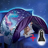MOCHO AM Tienda de Magia del Mundo, Tienda de campaña para los sueños Interiores, Familia de niños pequeños (con Luces LED)