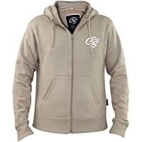 Crosshatch Mens Hoodie Full Zip Embroidery Soft Peach Finish New Branded Top