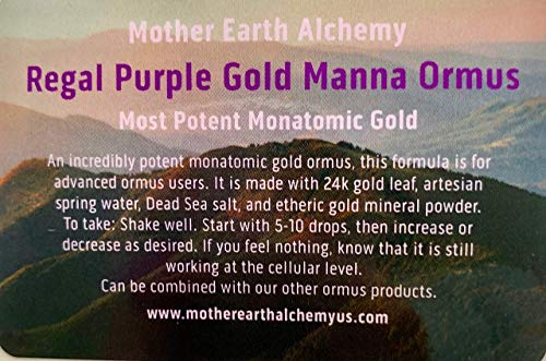 Regal Purple Gold Manna Ormus the Most Potent Ormus You Can Buy by Mother Earth Achemy - Alchemy Lab