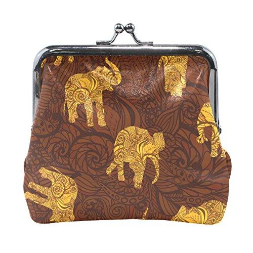 COOSUN Los Elefantes en la Moneda del Embrague Monedero de Cierre a...