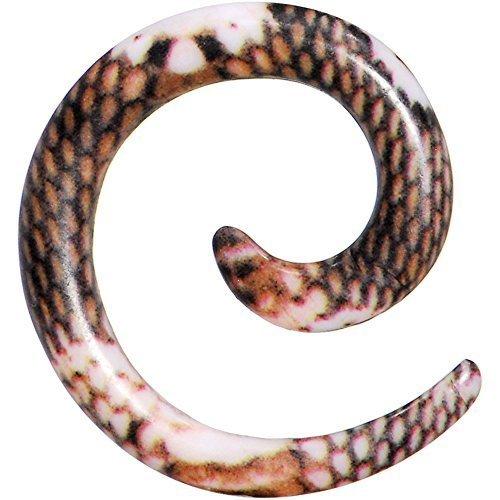 8-calibro-di-arrossire-pitonato-motivo-acrilico-spirale-rastremate-1-pezzo