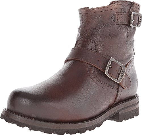 Frye Blazer (FRYE Men's Warren Engineer Blazer Brown Tumbled Leather/Shearling 10 D US)