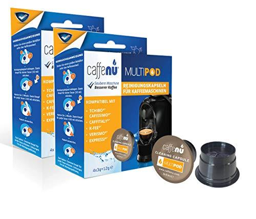 Caffenu® Reinigungskapseln Multipod - für Tchibo Cafissimo, Caffitaly®*, K-fee®*, Verismo®*, Expressi®*, 8 Stück