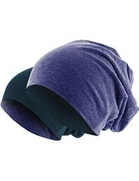 Hatstar Slouch Long Beanie 2in1 Reversible Jersey Mütze in 44 Farben
