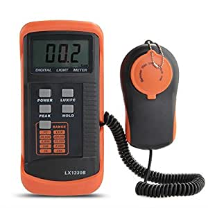 COLEMETER® Luxmetre Numérique 200,000 Lux Mètre LCD Lumen Mesure Testeur Photo