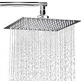 Soffione doccia da parete/Quadrato ultrathin 20 Ø 20 Ø 2 CM ACCIAIO INOX cromato lucido Ugelli anticalcare/ANTI-LIMESCALE
