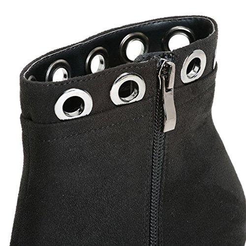 ESTRADÀ by Scarpe&Scarpe - Stivaletti alti con accessori bucati, con Tacco 10 cm Nero