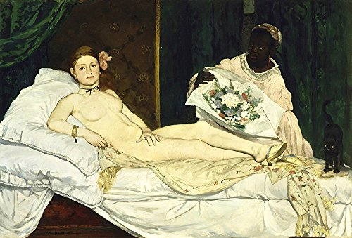 Spiffing Prints Edouard Manet - Olympia in Bed - Extra Large - Matte Print