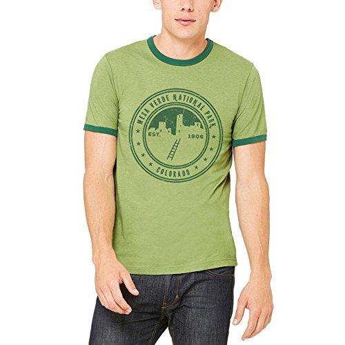 Mesa Verde Nationalpark Vintage Herren Ringer T Shirt Green