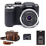 Kodak PIXPRO AZ252 Astro Zoom Bridge Camera - Black + Case + 16GB