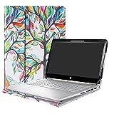 Alapmk Diseñado Especialmente La Funda Protectora de Cuero de PU para 14' HP Pavilion x360 14 14-baXXX 14m-baXXX Series Ordenador portátil,Love Tree