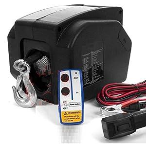 yates electricos: GOWE 5000lb 12V yate barco eléctrico cabrestante inalámbrico Control remoto Cam...