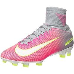 Nike Mercurial Veloce III, Botas de fútbol para Mujer, Rosa (Hyper Pink/White/Wolf Grey), 38 EU