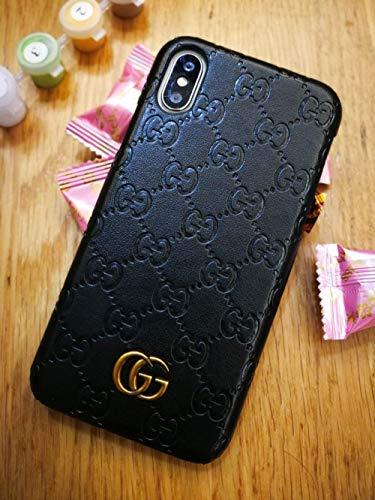 Schutzhülle für iPhone XS Max, PU-Leder, luxuriös, stilvoll, modisch, Schwarz