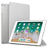 #5: Robustrion Smart Slim Series Trifold Hard Back Flip Stand Case Cover for New iPad 9.7 inch 2018/2017 6th/5th Generation - Grey