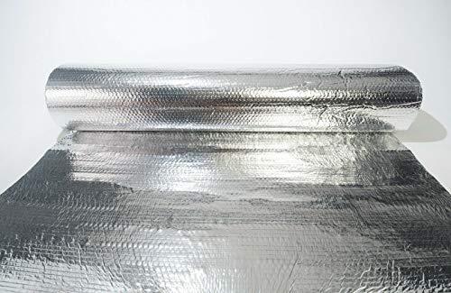 SuperFOIL Allzweck-Folien-Isolierung, 2 Rollen (1,2 m x 12,5 m) – 4 mm doppelschichtiger Hitze-Reflektor für Wände, Böden, Dächer, Wohnmobil und Wohnwagen, 1 Rolle Aluminium-Luftpolsterfolie