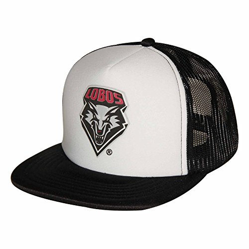 Ouray Sportswear NCAA Unisex Trucker-Kappe mit Netzrücken für Erwachsene, Unisex - Erwachsene, Foam Front Mesh Back Trucker, weiß/schwarz, Einstellbar - Back Adjustable Trucker Hut