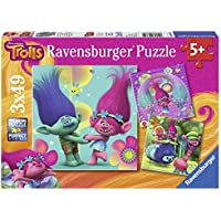 Ravensburger 9364 Trolls Jigsaw Puzzles - 3 x 49 Pieces