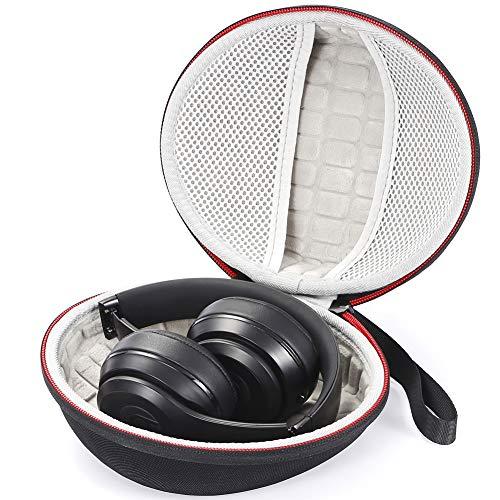Custodia rigida per cuffie Beats Solo3 Cuffie on-ear/Cuffie auricolari wireless Solo2 e cuffie Sennheiser, Custodia da viaggio con custodia - Nero