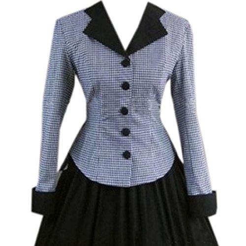 Partiss Damen Vintage Mittelalterlichen Bodenlange Gothic Viktorianisch Ballkleid Lolita...