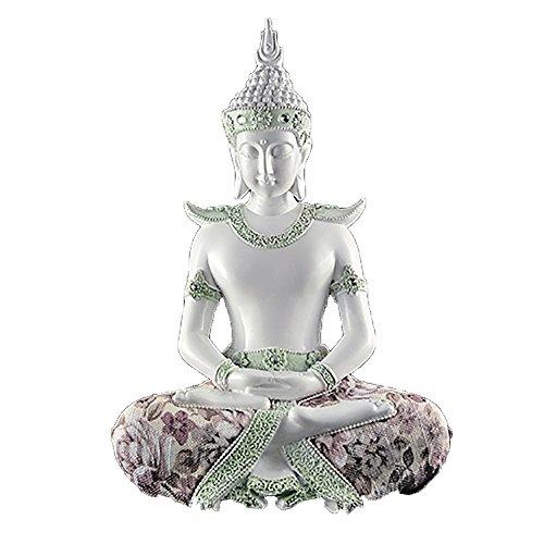 Tarot Carmen Figura de Buda Thai Blanco Sabiduría- Tamaño  29 x 18 x 11 4fd2c1475f0
