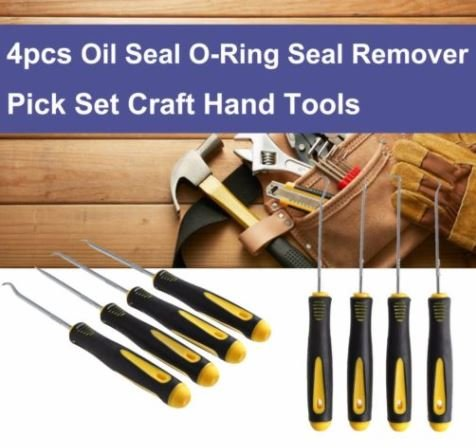 Oil Seal Remover (hjl 4/Set Langlebig Auto Haken Oil Seal O-Ring Dichtung Remover Pick Set Craft Hand Tools)