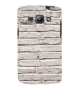 EPICCASE white wall Mobile Back Case Cover For Samsung Galaxy J1 (Designer Case)