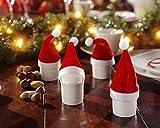 20 Mini-Deko-Weihnachtsmannmützen Weihnachtsmützen Weihnachtsdeko ca. 11 cm hoch