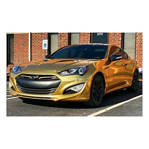 Avery SF100 Conform Chrome Gold | 604-S | Vinyl CAR WRAP Film (53in x 5ft (22 Sq/ft)) w/Free-Style-It Pro-Wrapping Glove (Chrome Wrap Vinyl)