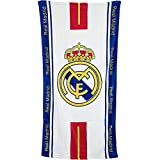 Real Madrid Strandtuch 75x 150cm (one Size, weiß)