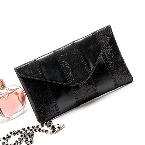 Malloom® 26*15*3cm Mode Frauen Damen Abend Party Pailletten Clutch Envelope Bag (Quaste-abend-geldbeutel)