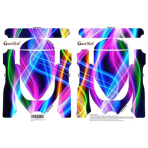 Elektro-Skateboards Elektro Scooter Self Balancing Scooter Aufkleber Elektroroller Roller Self Balance Board Haut – Selbststabilisierendes Fahrzeug E-Board Schutzfolie Sticker Aufkleber – Light Waves von GameXcel ® - 2
