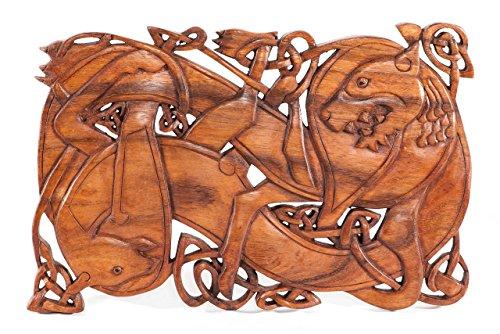 Windalf Wikinger - Cuadro de Pared (38 cm, Hecho a Mano), diseño de Lobo Fenris