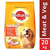 #5: Pedigree Dry Dog Food, Meat & Vegetables for Adult Dogs – 20 kg