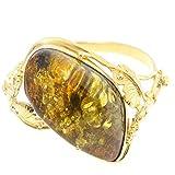 ARTIPOL Pulsera con Ámbar dorado Artesania europea estilo francés - Bisutería de dorada PU-BR346/26 - Muchos piedras disponibles