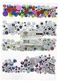 Creation Station Wackelaugen, verschiedene Größen, Sorten: Schwarz/ mit Wimpern/ farbige Pupille/ farbige Iris, 500er-Pack