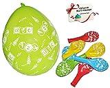 Unbekannt 8 TLG. Set _ Luftballons -  Schultüten & Zuckertüten - Schulanfang  - Ballon für Helium oder Luft - Kinder / Mädchen & Jungen - Einschulung - Schulbeginn - ..