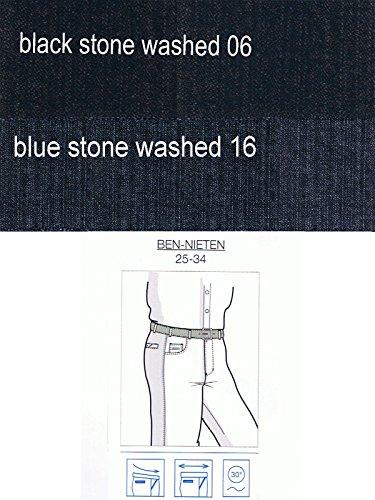 Unterbauchjeans Ben - mit Nieten black stone wa.