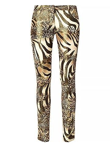 Pantalon Femme Dore - CRISTIANO CABRANO Femmes Pantalon doré