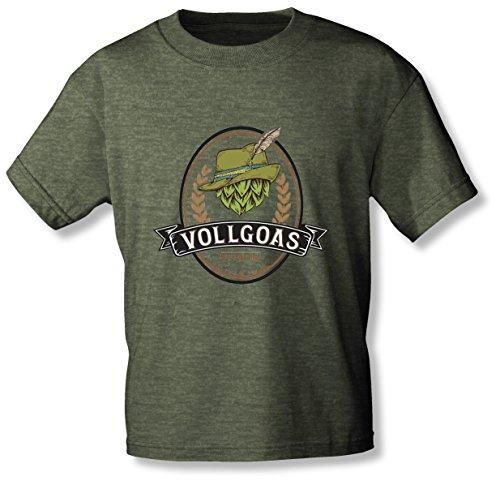 VOLLGOAS Original! - T-Shirt: Das Shirt zur beliebtesten Goasmaß to Go (L, Grün Meliert)