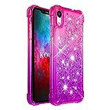 KOUYI Coque iPhone XR [Série Quicksand] Flottant Liquide Brillant Mode Mouvant...