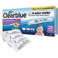 Preisvergleich für Clearblue Ovulationstest Fortschrittlich & Digital, 20 Tests, 1er Pack (1 x 20 Stück) plus 5 OneStep Schwangerschaftstests...