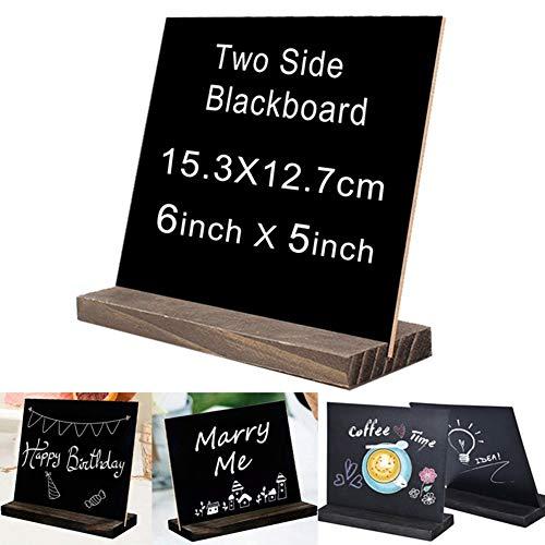 Kylewo Holztafel, doppelseitig, zum Aufstellen, für kleine Schreibtisch-Kreidetafel - glattes Schreiben, leicht zu reinigen -für Hochzeiten Birthday Parties Message Tischnummer und Event Dekorationen