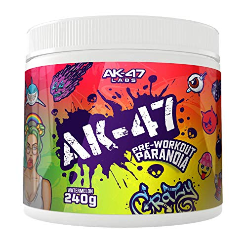 AK47 LABS Pre-Workout Paranoia Booster Trainingsbooster Fitness Bodybuilding (Watermelon - Wassermelone), 240 g
