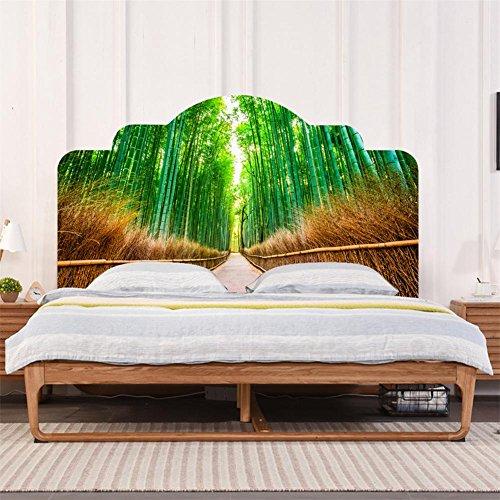 Bambus-schlafzimmer Kopfteil (Wandaufkleber 3D Grün bambus Schlafzimmer feuchtigkeitsbeständig Abnehmbare DIY Kopfteil aufkleber , D)